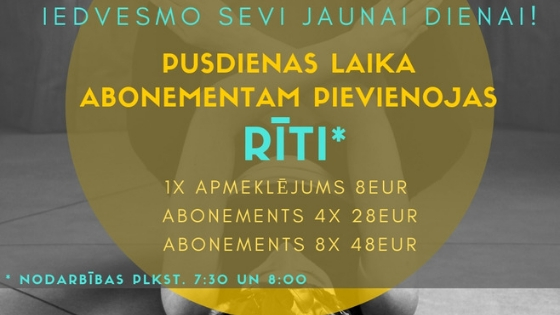 RĪTA ABONEMENTS!