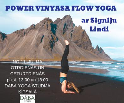 VINYASA FLOW YOGA (Plūsmas joga)