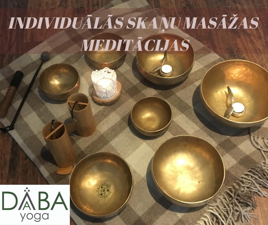 INDIVIDUĀLĀS SKAŅU MASĀŽAS MEDITĀCIJAS